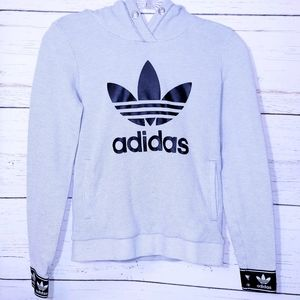 Adidas Gray and Black Pullover Hoodie